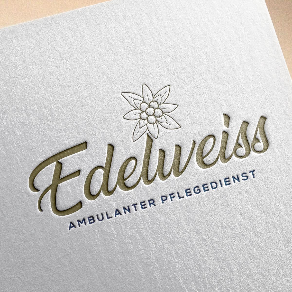 Logo Design Edelweiss Pflege Bobo