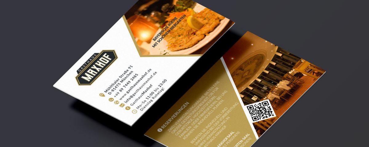Visitenkarte Für Gasthaus Maxhof Bobo